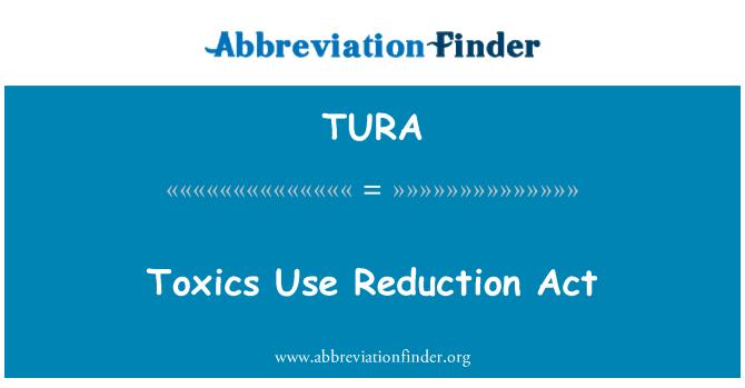 TURA: Toksik digunakan pengurangan Akta