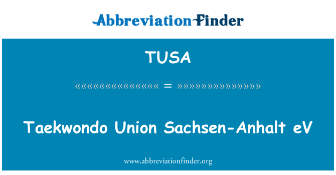 TUSA: Taekwondo Union Sachsen-Anhalt eV