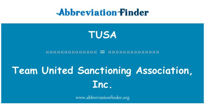 TUSA: Team United Sanctioning Association, Inc.