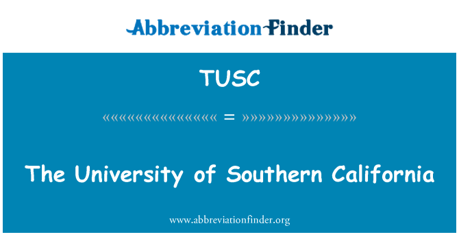TUSC: Güney Kaliforniya Üniversitesi