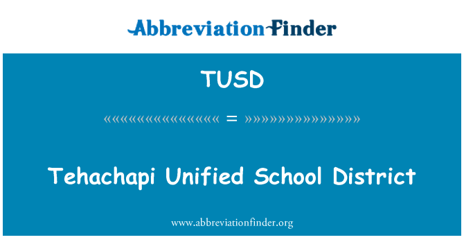 TUSD: Tehachapi Unified School District