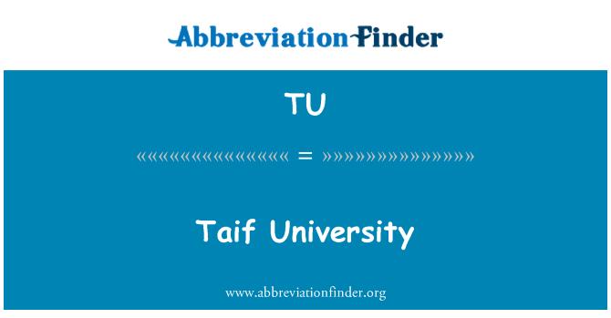 TU: Taif University