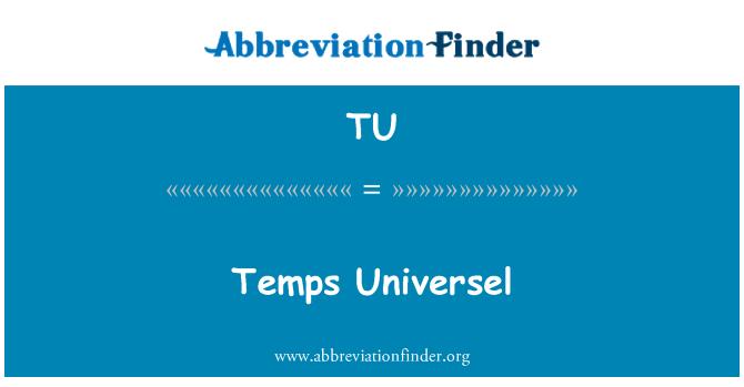 TU: Temps Universel