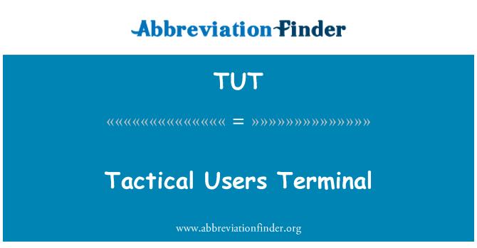 TUT: Terminal táctico usuarios