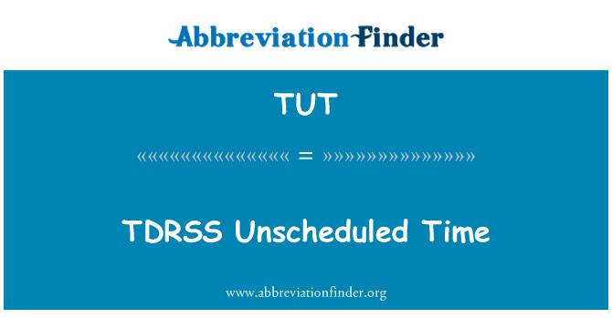TUT: TDRSS no programado tiempo