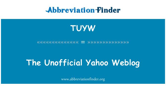 TUYW: The Unofficial Yahoo Weblog