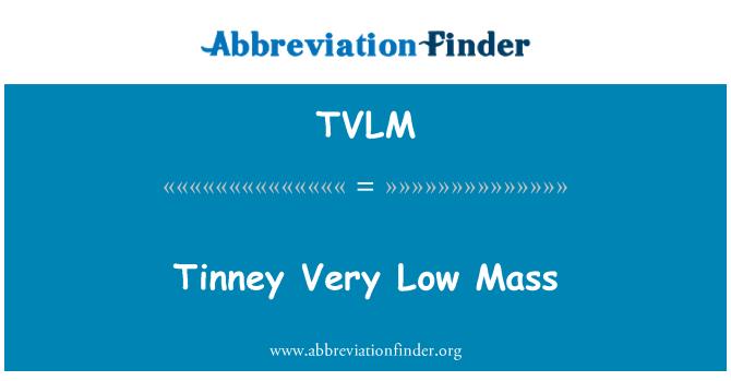 TVLM: Tinney çok düşük kütle