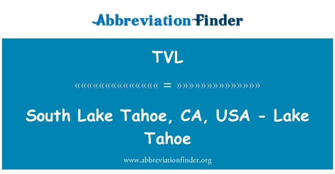 TVL: South Lake Tahoe, CA, USA - Lake Tahoe