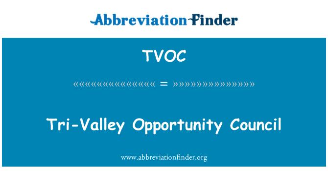 TVOC: Tri-Vadisi fırsat Konseyi