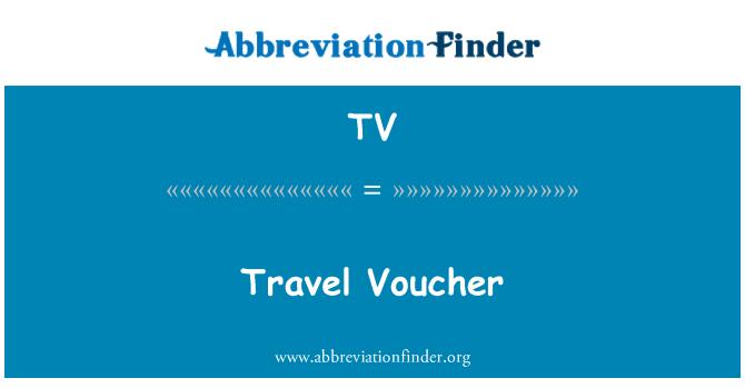 TV: Travel Voucher