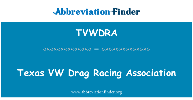 TVWDRA: VW Drag Racing Asociación