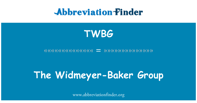 TWBG: Widmeyer-Baker grubu