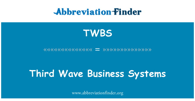 TWBS: Third Wave Business Systems