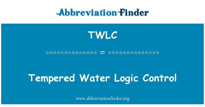TWLC: Tempered Water Logic Control