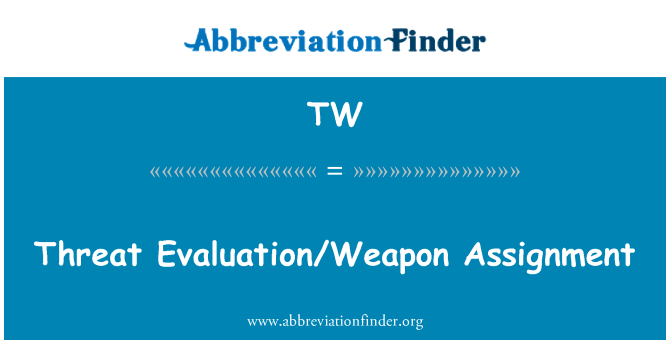 TW: Threat Evaluation/Weapon Assignment