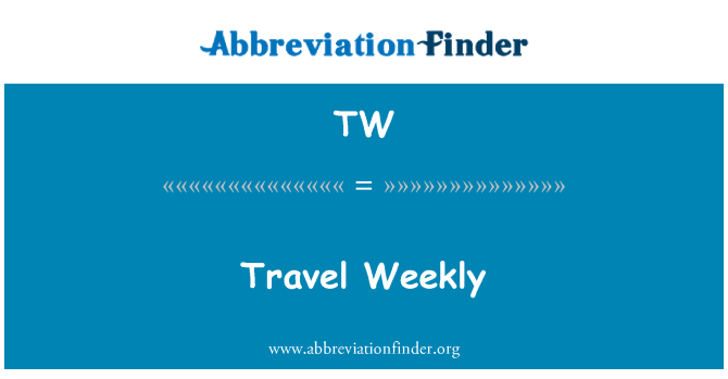 TW: Travel Weekly