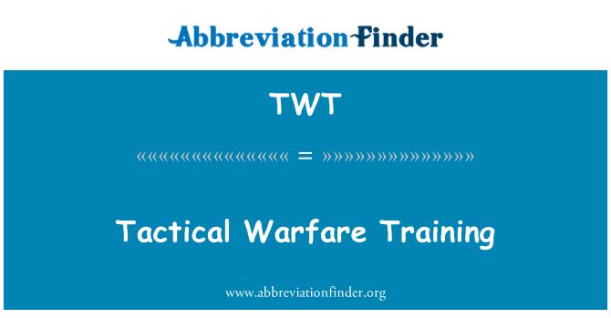 TWT: Tactical Warfare Training