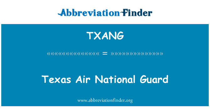 TXANG: Texas Air National Guard
