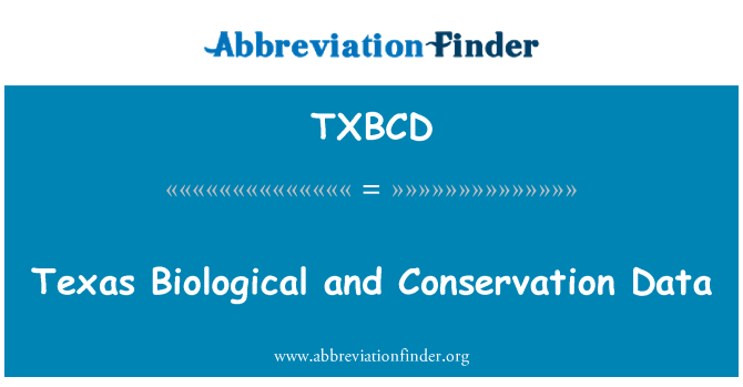 TXBCD: Texas Biological and Conservation Data