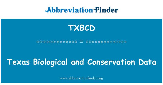 TXBCD: 德克萨斯州生物和保护数据