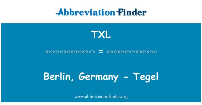 TXL: Berlin, Germany - Tegel