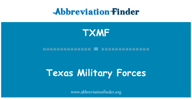 TXMF: Texas Military Forces