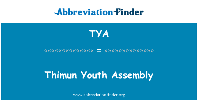 TYA: Thimun Youth Assembly