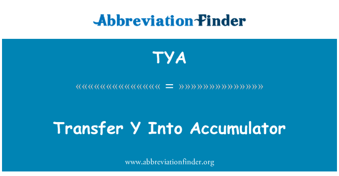 TYA: Transfer Y Into Accumulator