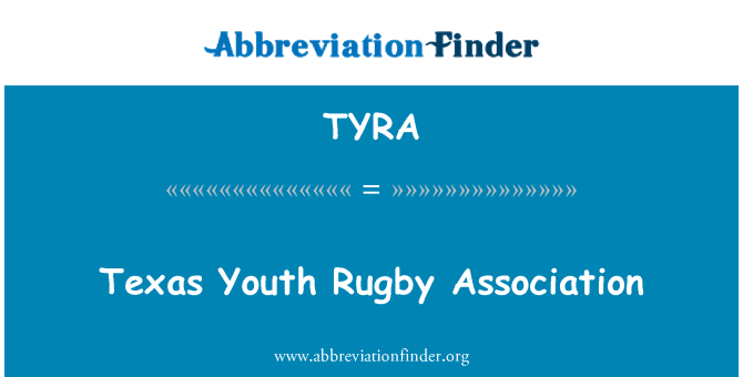 TYRA: Texas Youth Rugby Association