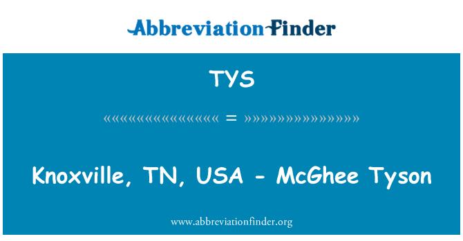 TYS: Knoxville, TN, Estados Unidos - McGhee Tyson
