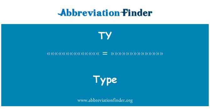 TY: Type
