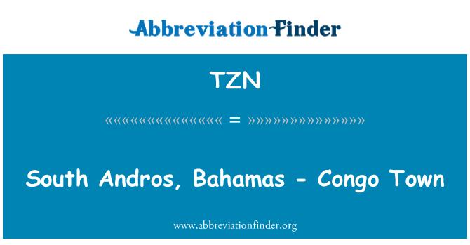 TZN: South Andros, Bahamas - Congo Town