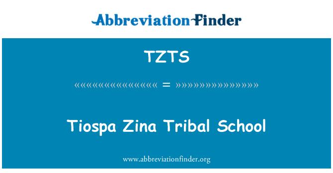 TZTS: Tiospa Zina Tribal School