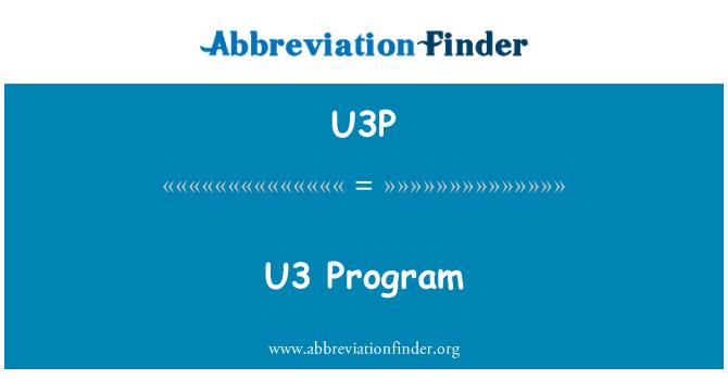 U3P: U3 程序