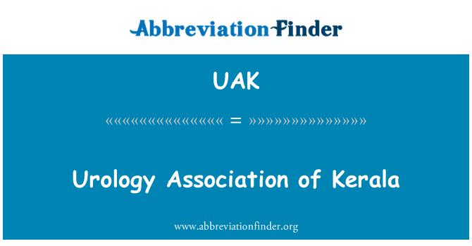 UAK: Asociación de Urología de Kerala