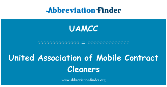UAMCC: United Association of Mobile Contract Cleaners