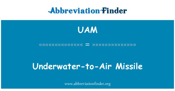 UAM: Underwater-to-Air Missile