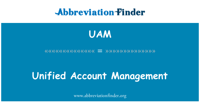 UAM: Unified Account Management