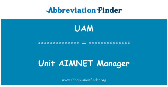 UAM: Unit AIMNET Manager
