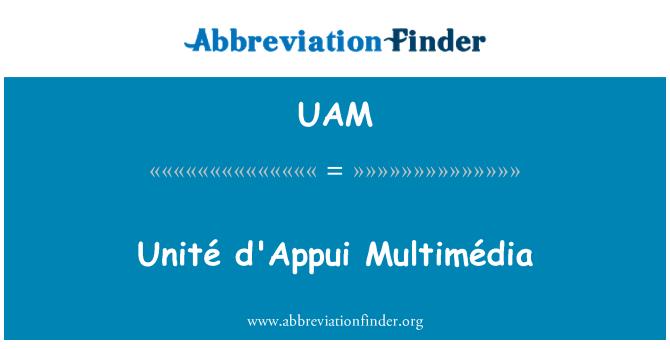 UAM: Unité appui Multimédia
