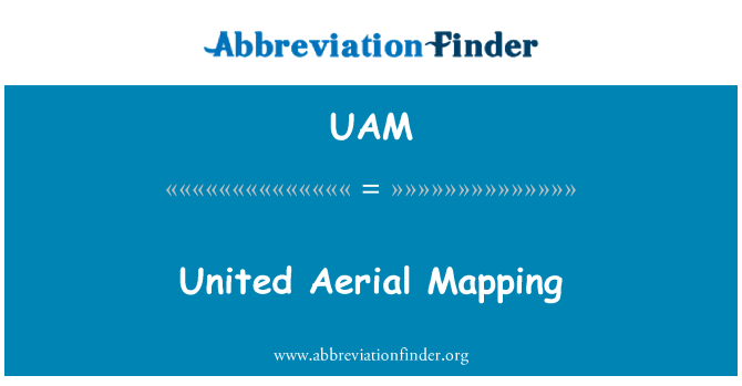 UAM: United Aerial Mapping