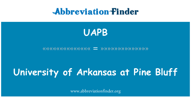 UAPB: Pine Bluff Arkansas Üniversitesi