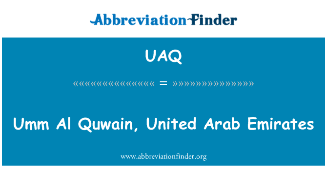 UAQ: Umm Al Quwain, United Arab Emirates