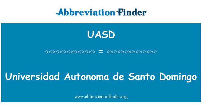 UASD: Universidad Autonoma de Santo Domingo