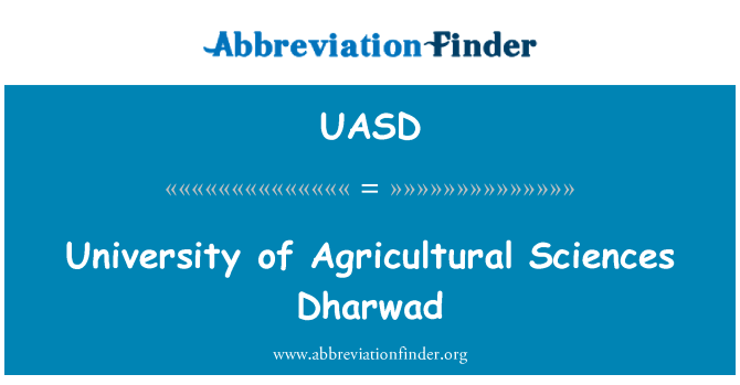 UASD: University of Agricultural Sciences Dharwad