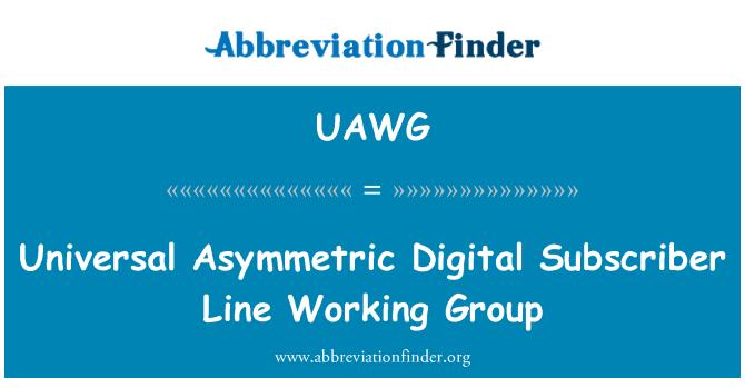 UAWG: Universell asymmetrisk Digital Subscriber Line Working Group