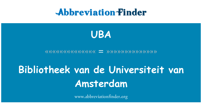 UBA: Bibliotheek van de Universiteit van Amsterdam