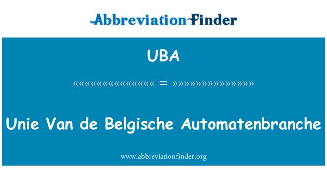 UBA: Unie Van de Belgische Automatenbranche