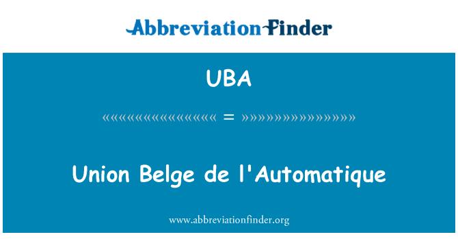 UBA: Union Belge de l'Automatique
