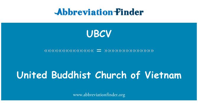 UBCV: United Buddhist Church of Vietnam